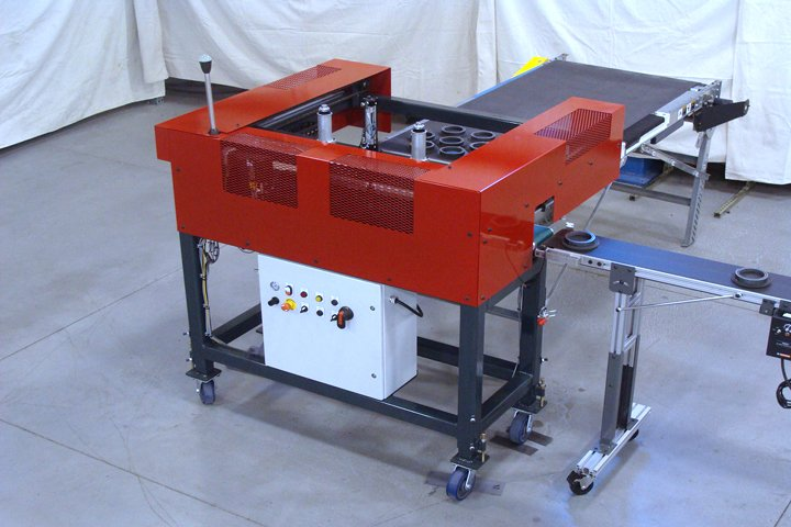 Front right side view of the Model FL3600 Furnace Loader. Note: The included control panel shown.