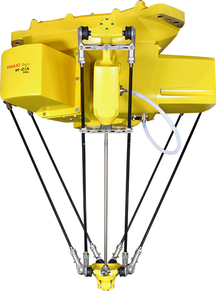 The FANUC M-2iA is a high speed picking and assembly robot. six models are available to meet the needs of multiple space requirements.