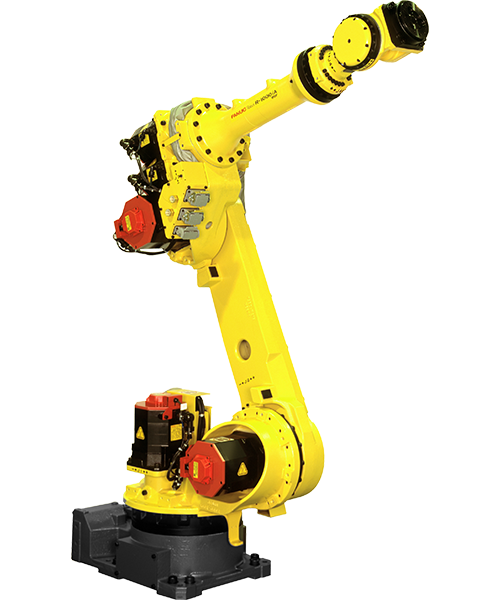 The R-1000iA is a compact and high-speed robot with a wrist capacity fo 800kg and 100kg. A compact mechanical unit combined with outstanding motion performance make this robot ideal for material handling or spot welding processes.