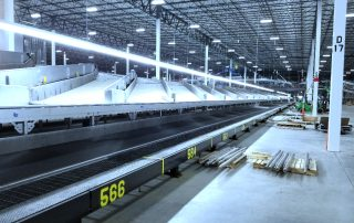 High speed sortation conveyor system for Global Parcel Shipping Company