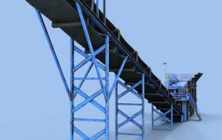 Elevator belt conveyor 3d model