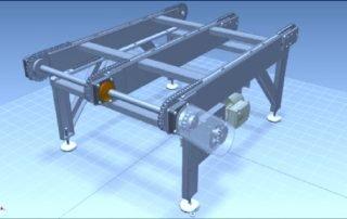 Chain conveyor 3d model