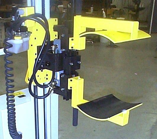 Custom end tool for barrel lift and tilt