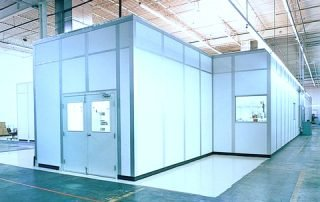 Modular office installation in manufacturing plant