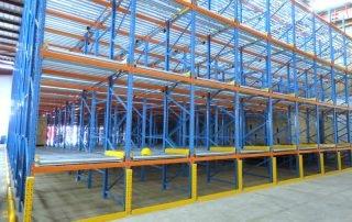 Interlake Mecalux pallet rack installation in a warehouse