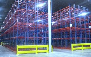 2 rows of Interlake Mecalux Selective Pallet Rack installed in a new distribution facility.