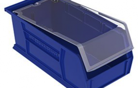 Plastic stackable industrial storage bin