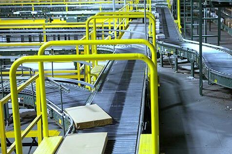 Multiple Hytrol Accumulation Zero Pressure Conveyor Lines