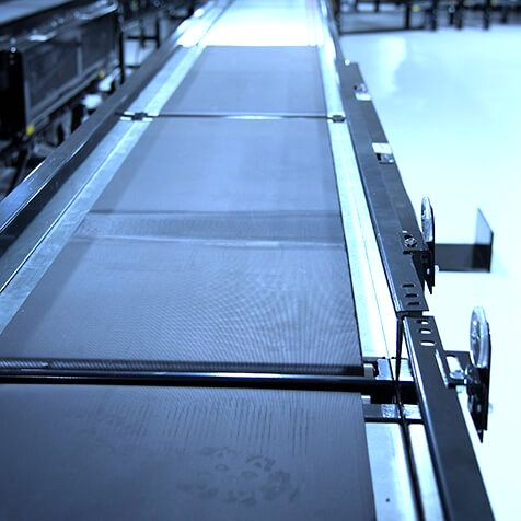 Hytrol Gapping Slider Belt Conveyor