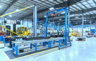 Gorbel Gantry Crane in a manufacturing facility