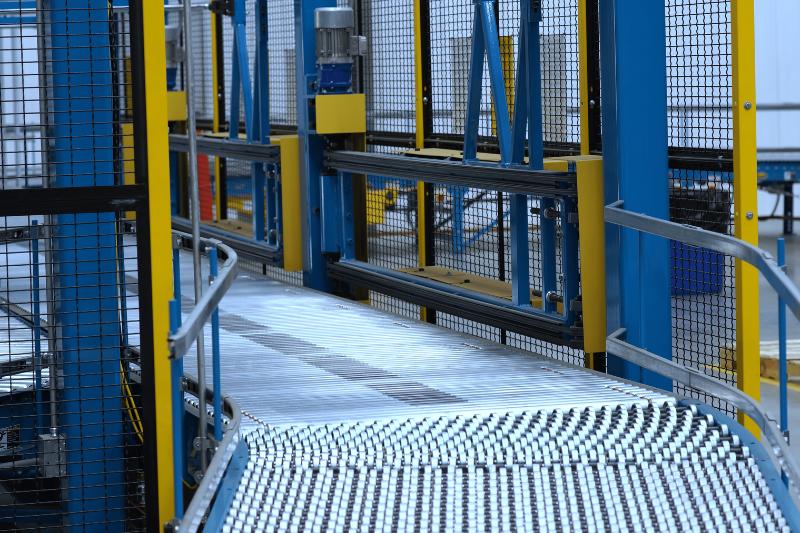 Image of conveyor line after diverter gates.